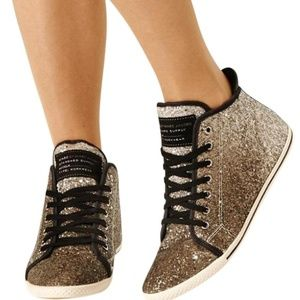 Marc by Marc Jacobs  Black Multi Glitter Lace-ups